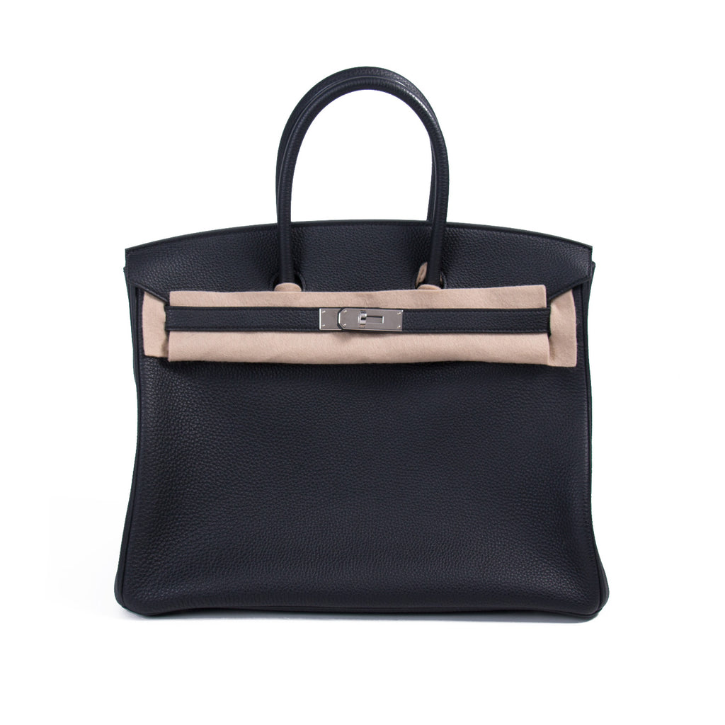 17e1a0d6bb Shop authentic Hermès Birkin 35 Black Togo Leather at revogue for ...
