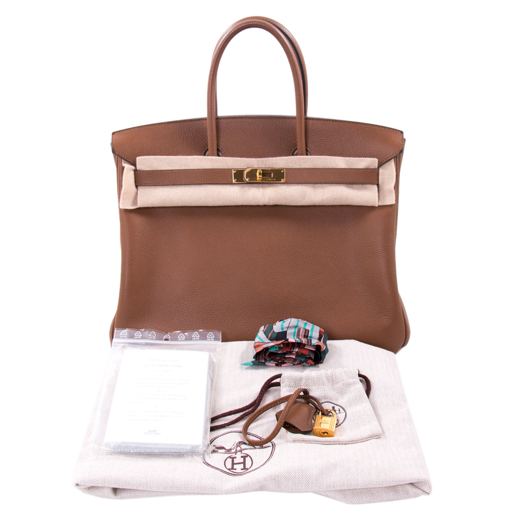 Hermès Birkin 35 Gold Epsom Leather Bags Hermès - Shop authentic new pre-owned designer brands online at Re-Vogue