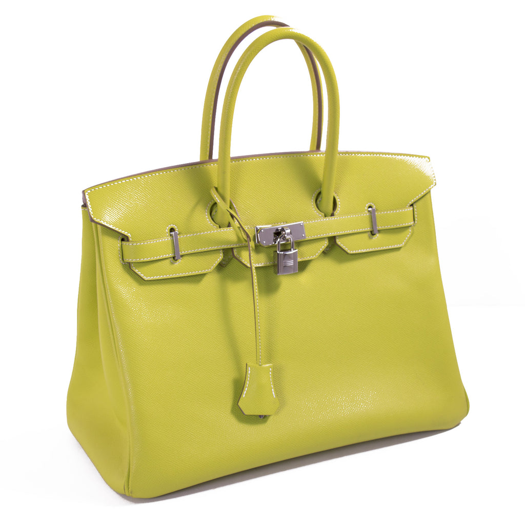 Hermès Candy Birkin 35 Epsom Lime Gris Perle Bags Hermès - Shop authentic new pre-owned designer brands online at Re-Vogue