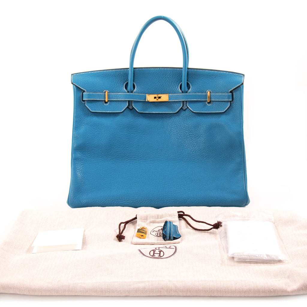 ... Hermès Birkin 40 Bleu Jean Clemence Bags Hermès - Shop authentic new pre-owned  designer ... ef45a03aa881b