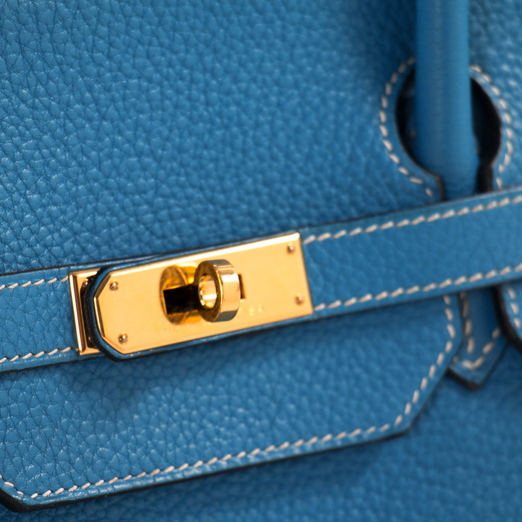 Hermès Birkin 40 Bleu Jean Clemence Bags Hermès - Shop authentic new pre-owned designer brands online at Re-Vogue