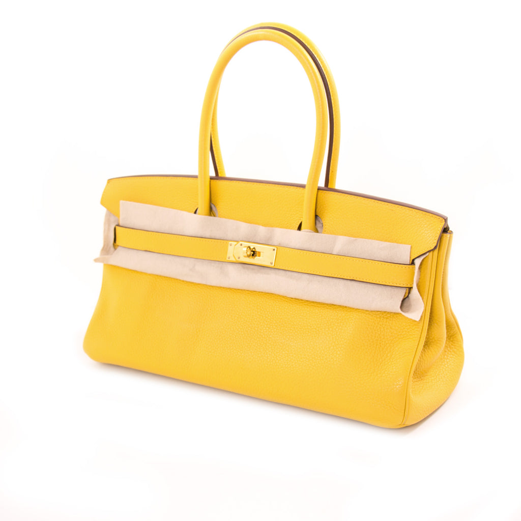 Hermès JPG Birkin 42 Shoulder Jaune Clemence Bags Hermès - Shop authentic new pre-owned designer brands online at Re-Vogue