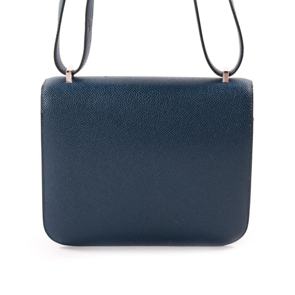 Hermès Mini Constance 18 Navy Blue Epsom Bags Hermès - Shop authentic new pre-owned designer brands online at Re-Vogue