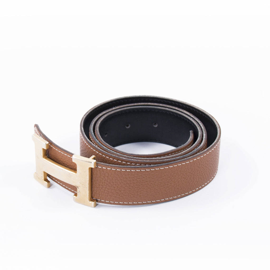 Hermès Tan and Black Reversible H Belt Accessories Hermès - Shop authentic new pre-owned designer brands online at Re-Vogue