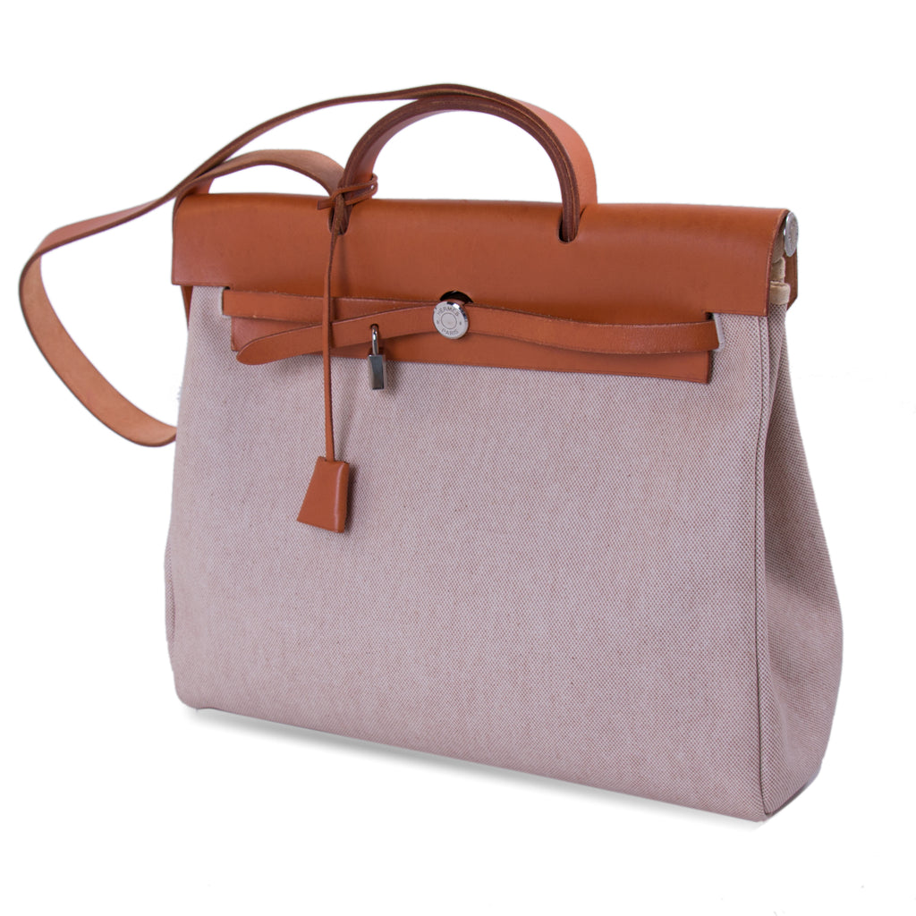 Hermès Herbag Toile Canvas GM Bags Hermès - Shop authentic new pre-owned designer brands online at Re-Vogue