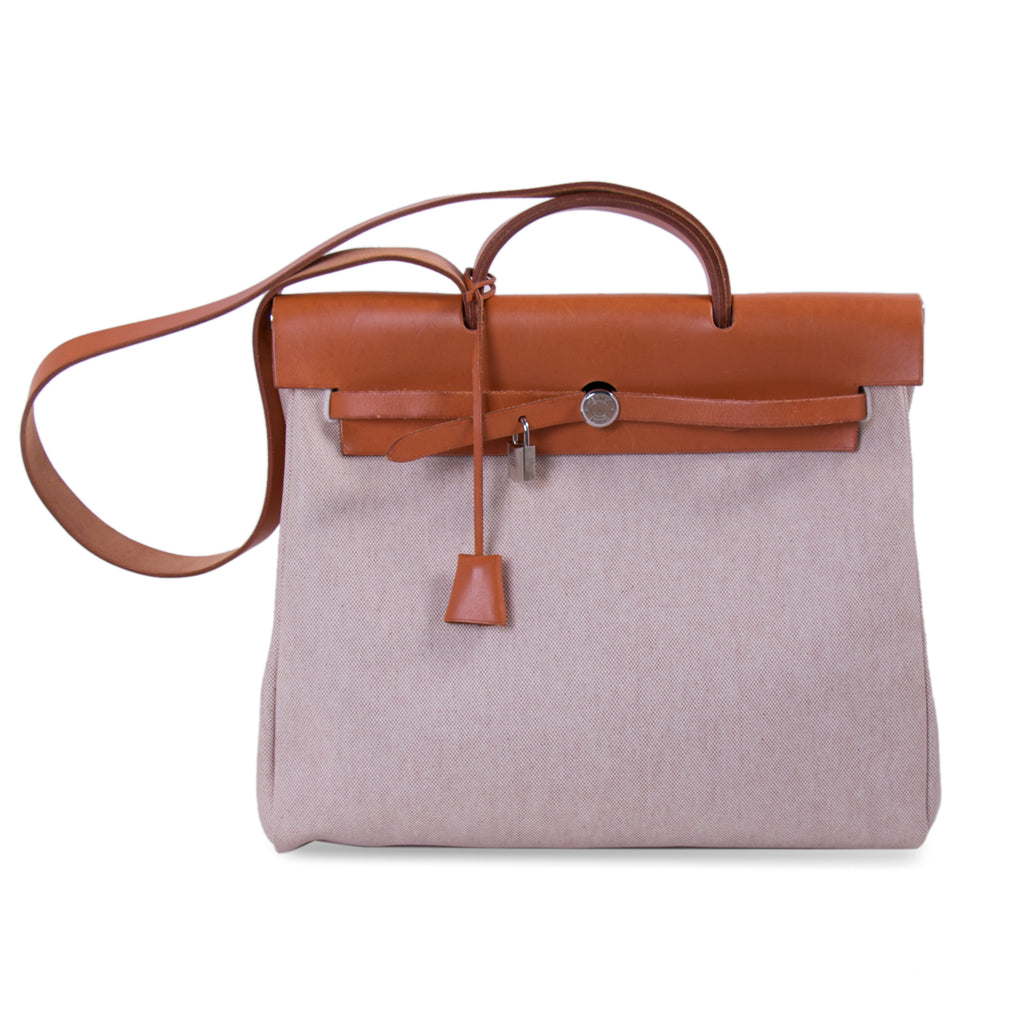 16086cb1b2 Shop authentic Hermès Herbag Toile Canvas GM at revogue for just USD ...