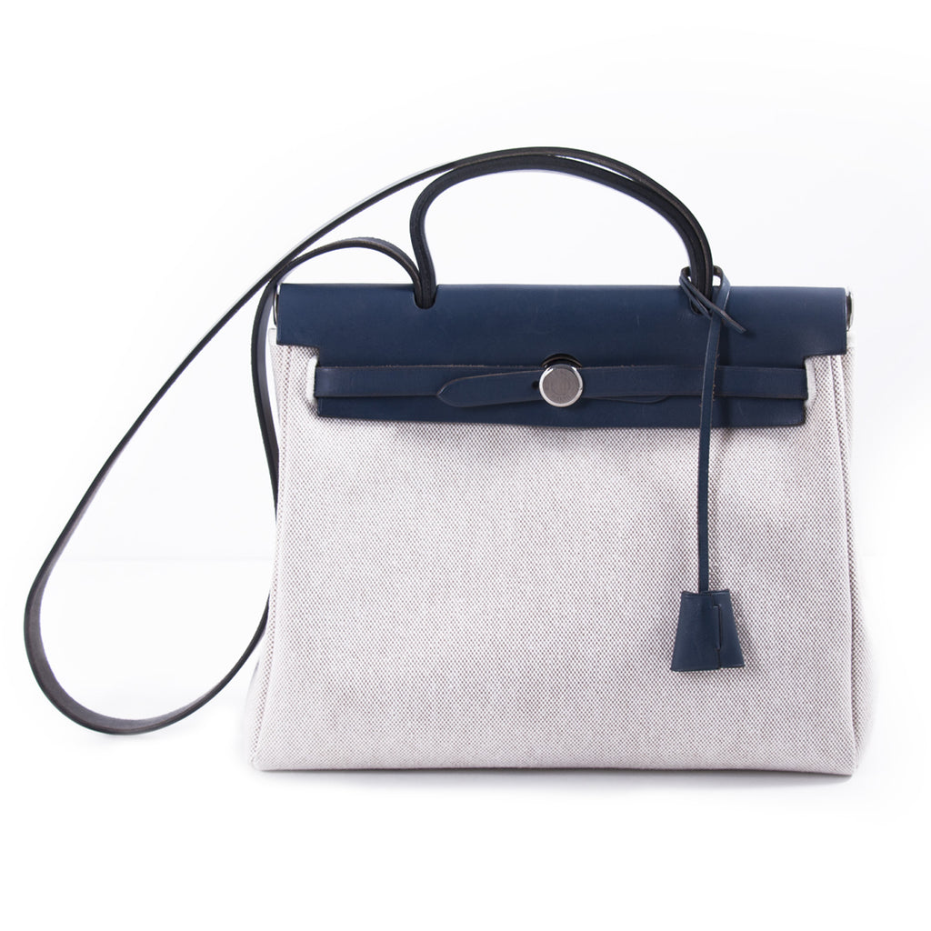 26974616b08b coupon code for hermÈs hermes herbag zip 31 b2695 1716a  order shop  authentic hermès herbag pm toile beige navy blue at revogue for d7357 a744b