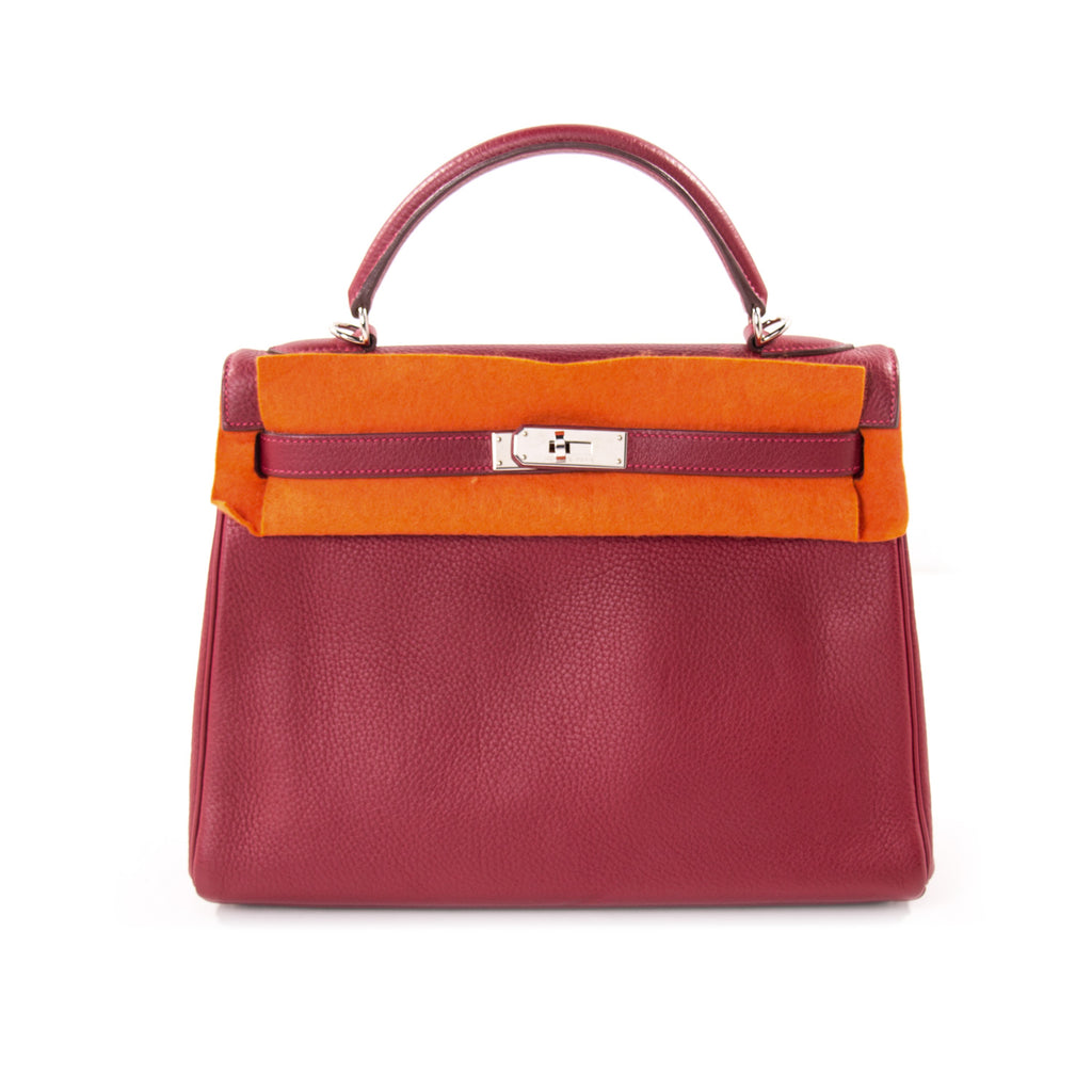 0f5a6afedc93 Shop authentic Hermès Kelly 32 Rouge Casaque Clemence at revogue for ...