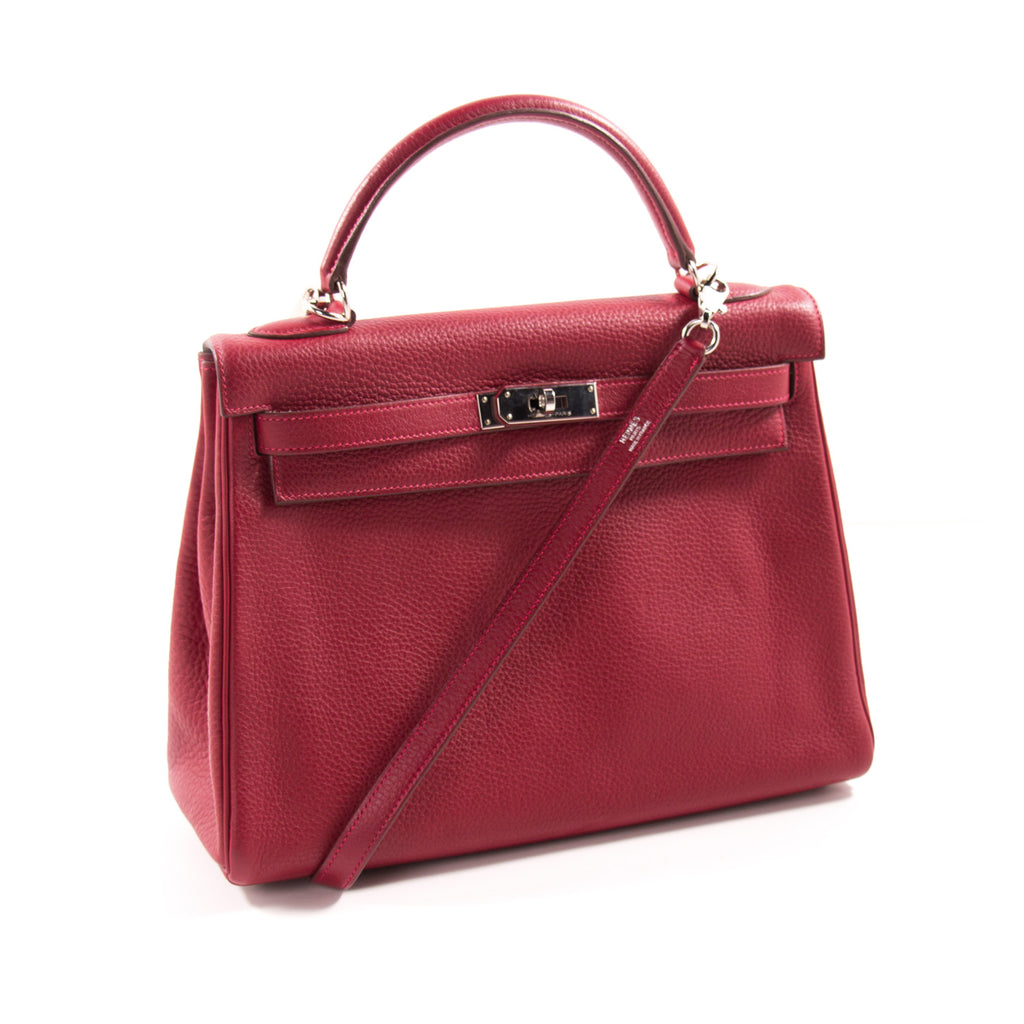 Hermès Kelly 32 Rouge Casaque Clemence Bags Hermès - Shop authentic new pre-owned designer brands online at Re-Vogue
