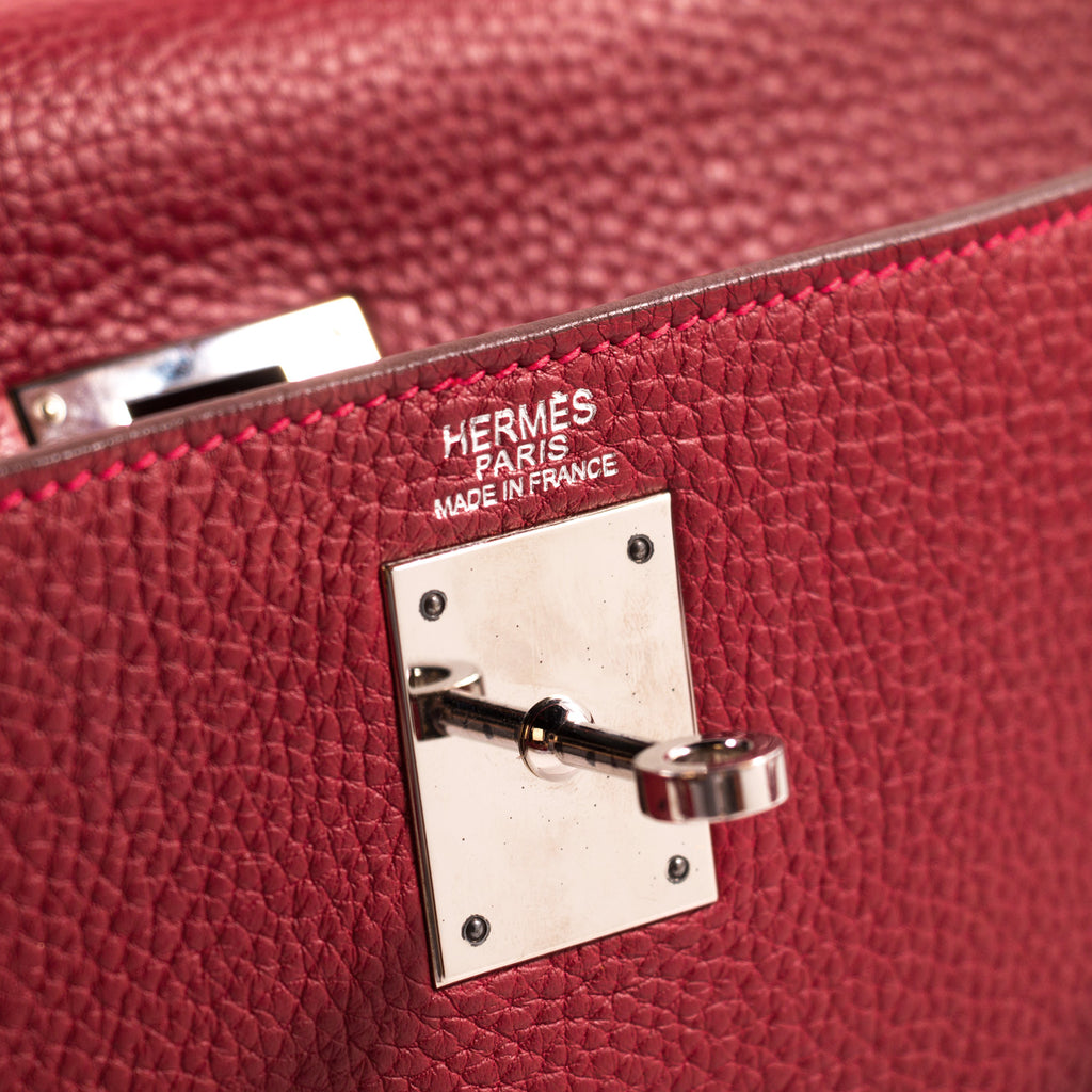 3ae38cb964 Shop authentic Hermès Kelly 32 Rouge Casaque Clemence at revogue for ...