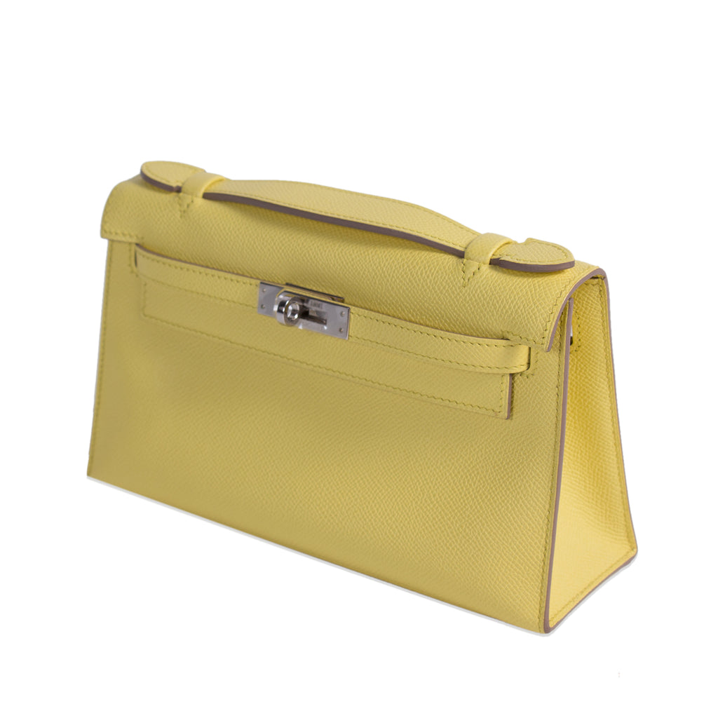 Hermès Kelly Pochette Jaune Espom Leather