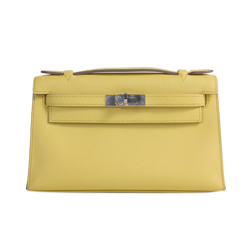 Hermès Kelly Pochette Jaune Espom Leather Bags Hermès - Shop authentic new pre-owned designer brands online at Re-Vogue