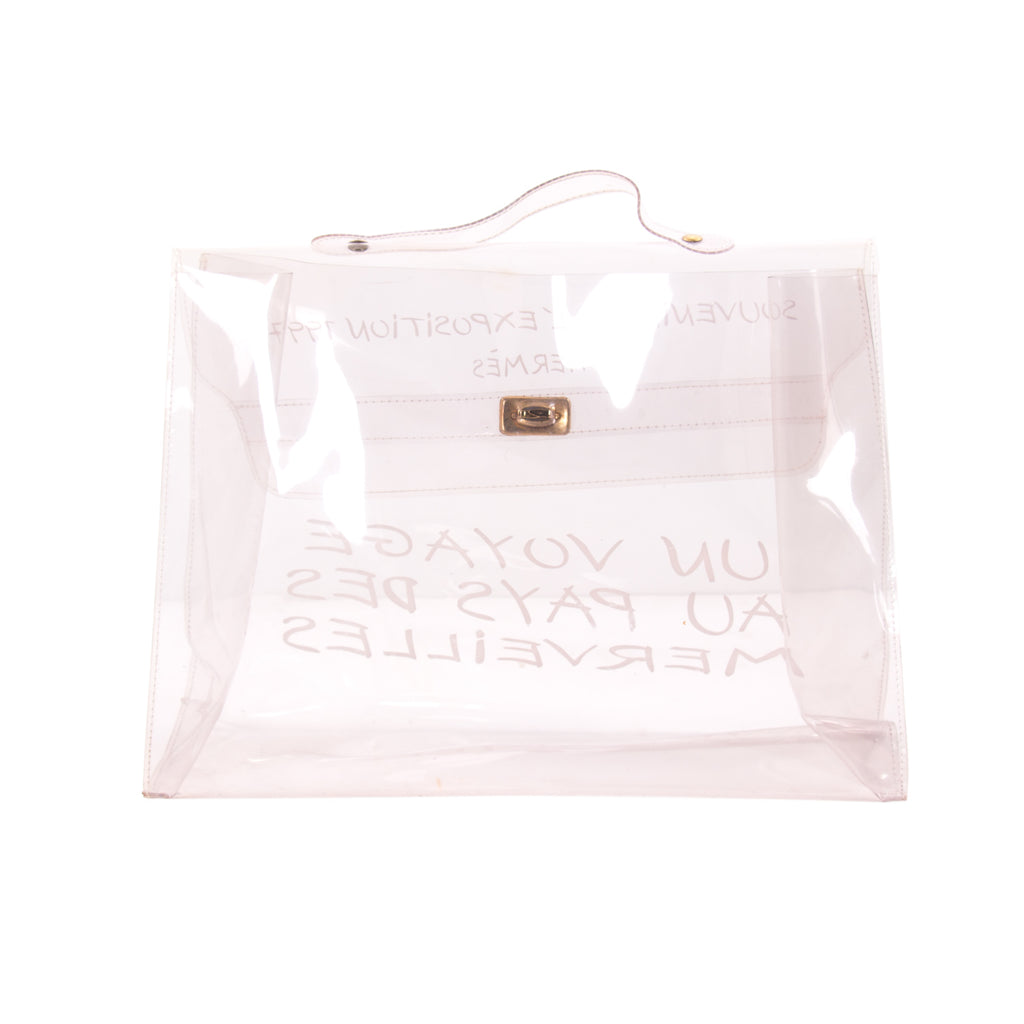a7b15750993 Shop authentic Hermès Transparent Vinyl Kelly Bag at revogue for ...