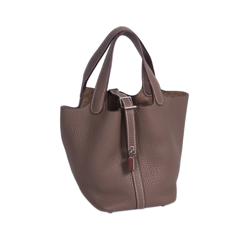 Hermès Picotin PM Etoupe Clemence Bags Hermès - Shop authentic new pre-owned designer brands online at Re-Vogue