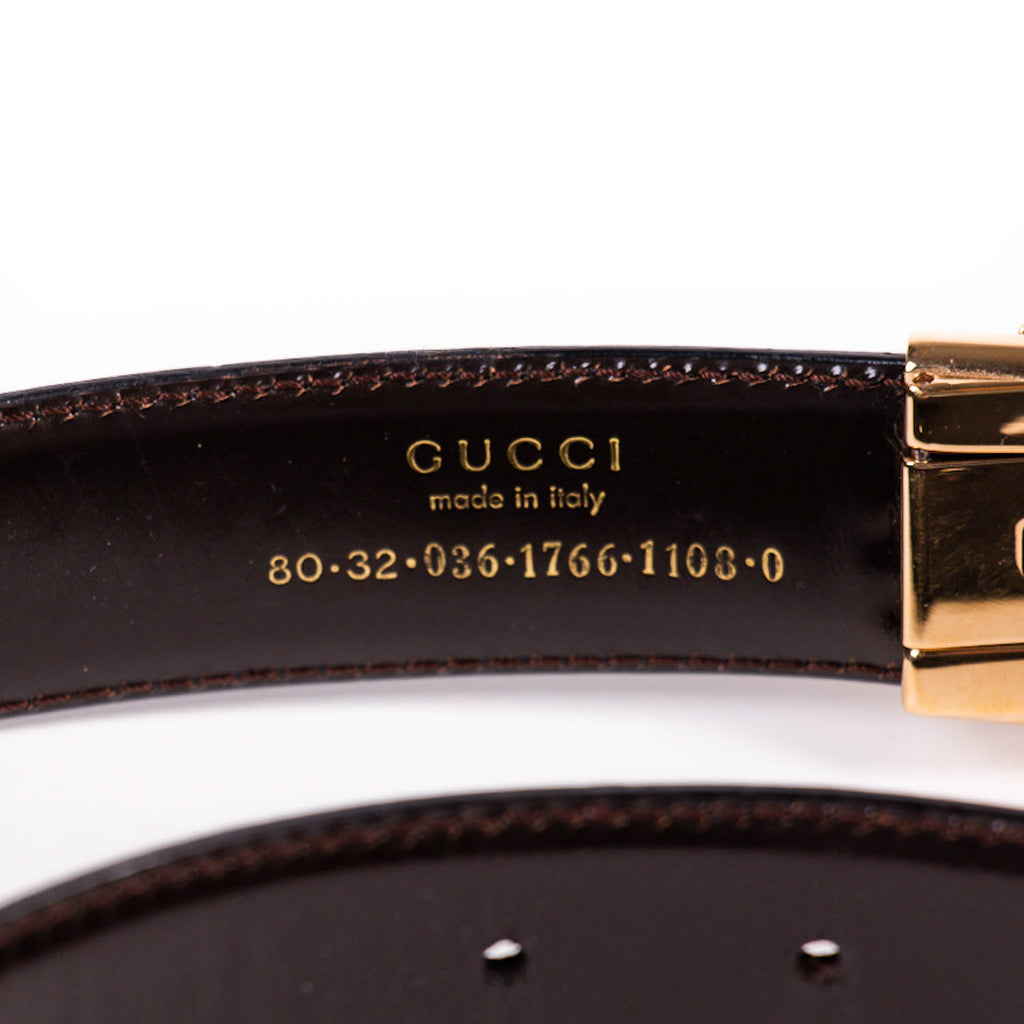 Gucci G Logo Leather Belt Accessories Gucci - Shop authentic new pre-owned designer brands online at Re-Vogue