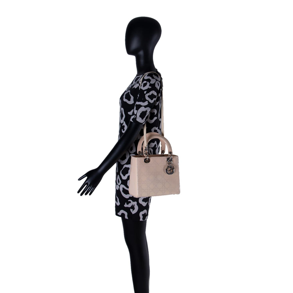 Christian Dior Lady Dior Medium Patent Leather Bags Dior - Shop authentic new pre-owned designer brands online at Re-Vogue