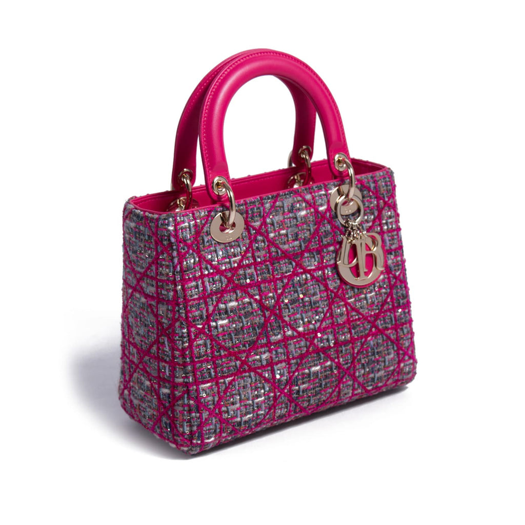 Christian Dior Tweed Medium Lady Dior Bags Dior - Shop authentic new pre-owned designer brands online at Re-Vogue