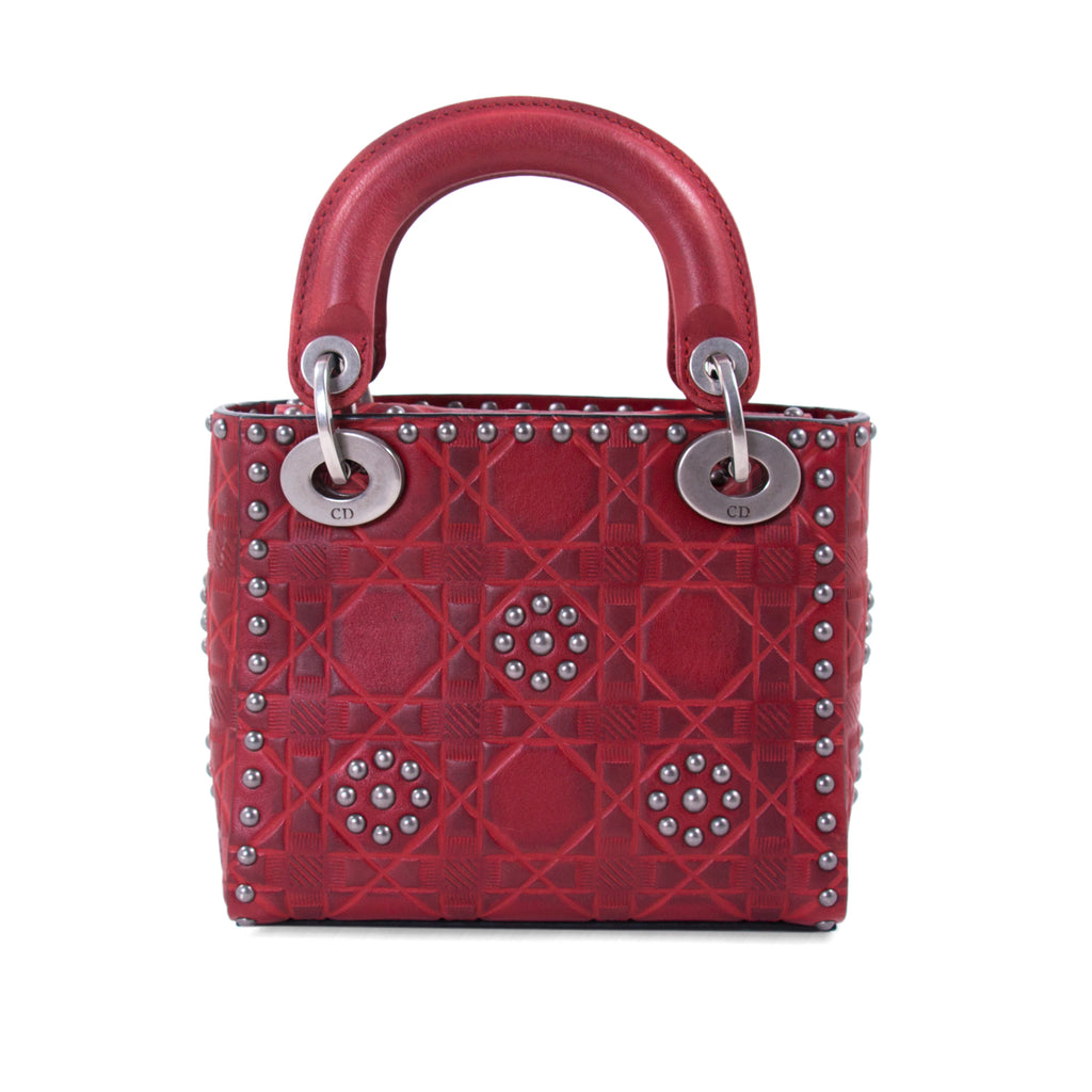 Christian Dior Studded Mini Lady Dior Bags Dior - Shop authentic new pre-owned designer brands online at Re-Vogue