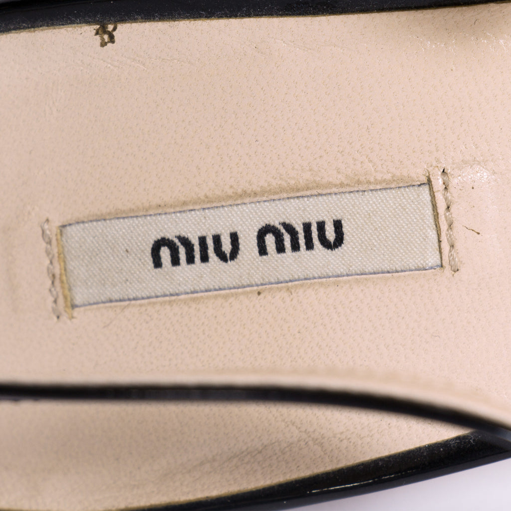 Miu Miu Slingback Pumps -Shop pre-owned luxury designer brands on discount online at Re-Vogue