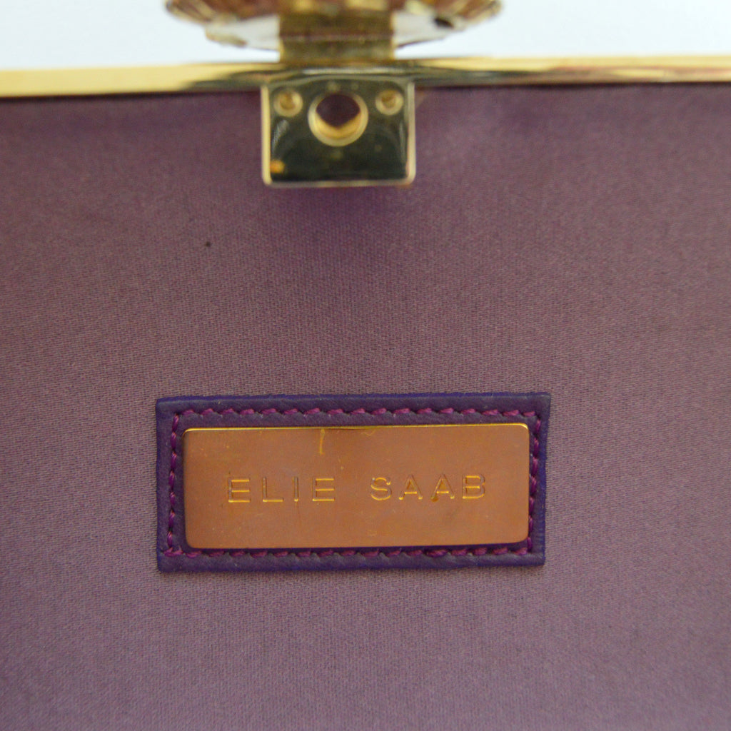 Elie Saab Purple Clutch Clutch Elie Saab - Shop authentic pre-owned designer brands online at Re-Vogue