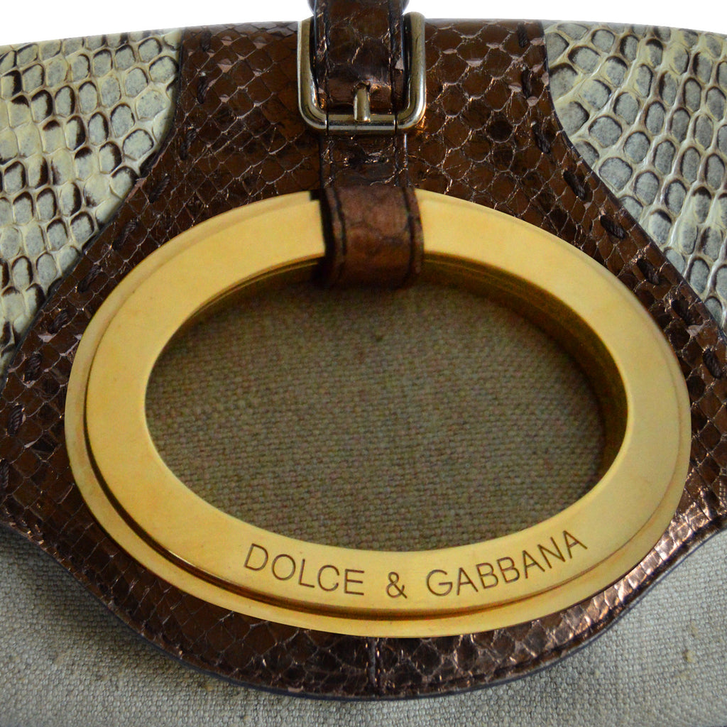 Dolce&Gabbana Snake Skin Shoulder Bag Bags Dolce & Gabbana - Shop authentic new pre-owned designer brands online at Re-Vogue