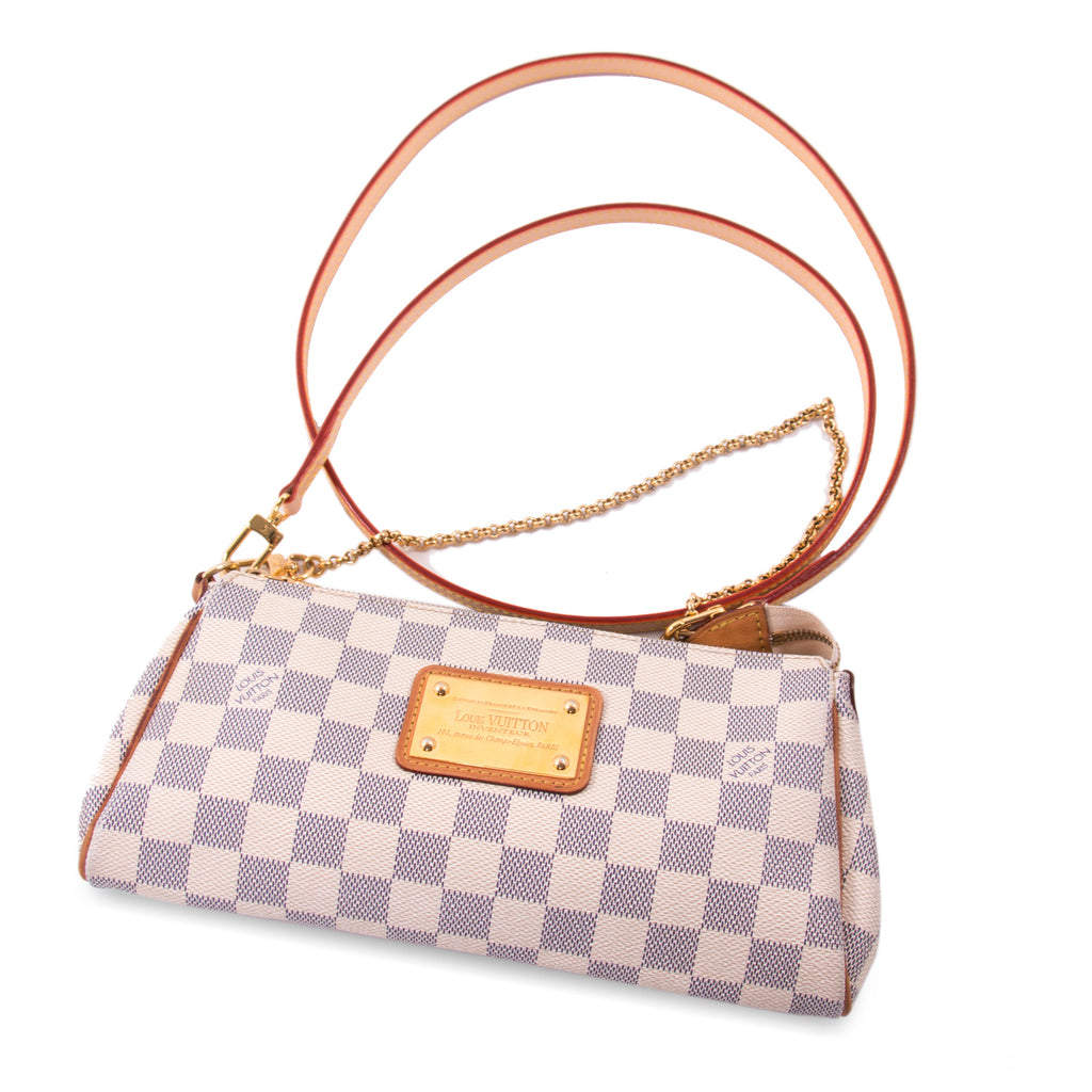 Louis Vuitton Damier Azur Eva Clutch Bags Louis Vuitton - Shop authentic new pre-owned designer brands online at Re-Vogue