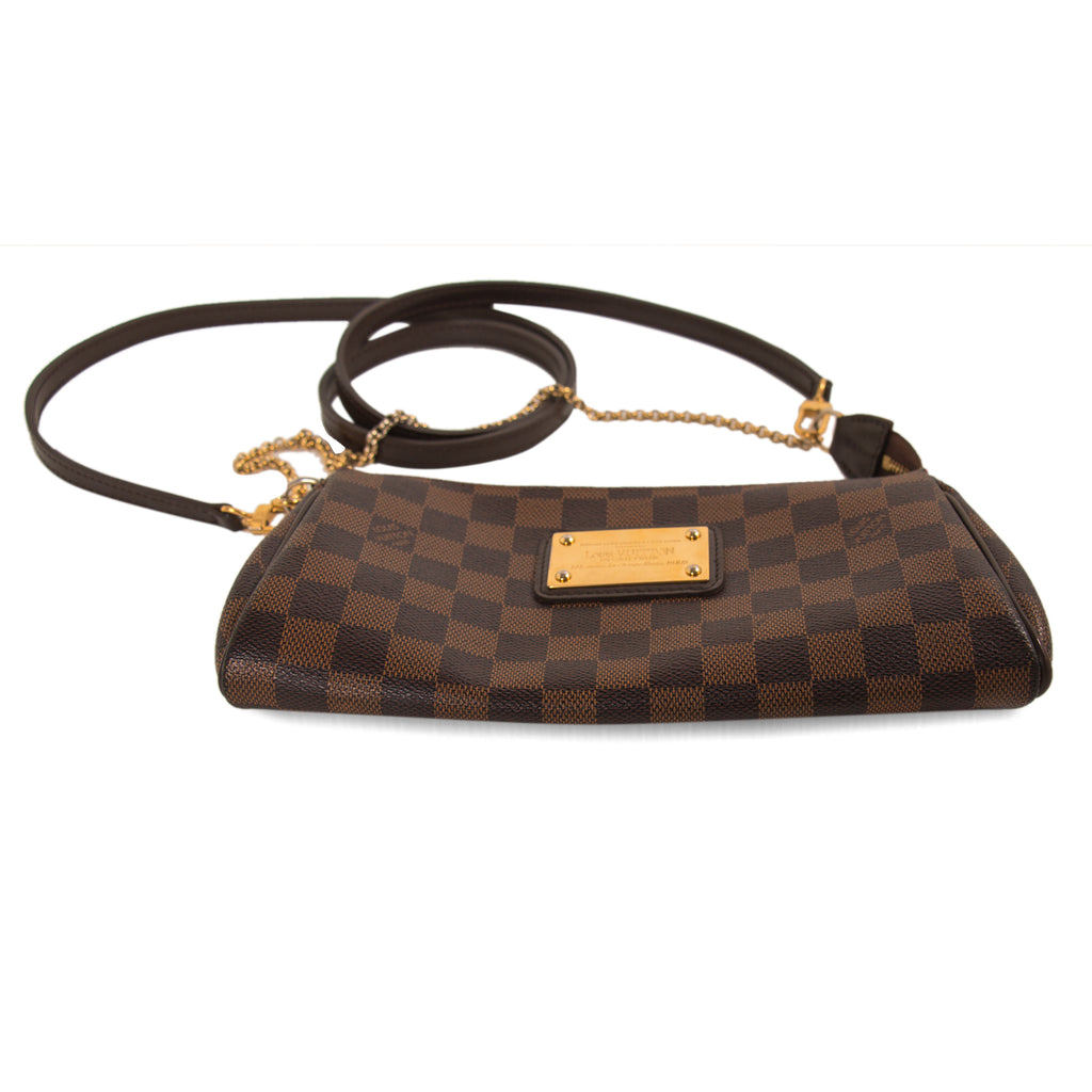 Louis Vuitton Damier Ebene Eva Clutch Bags Louis Vuitton - Shop authentic new pre-owned designer brands online at Re-Vogue
