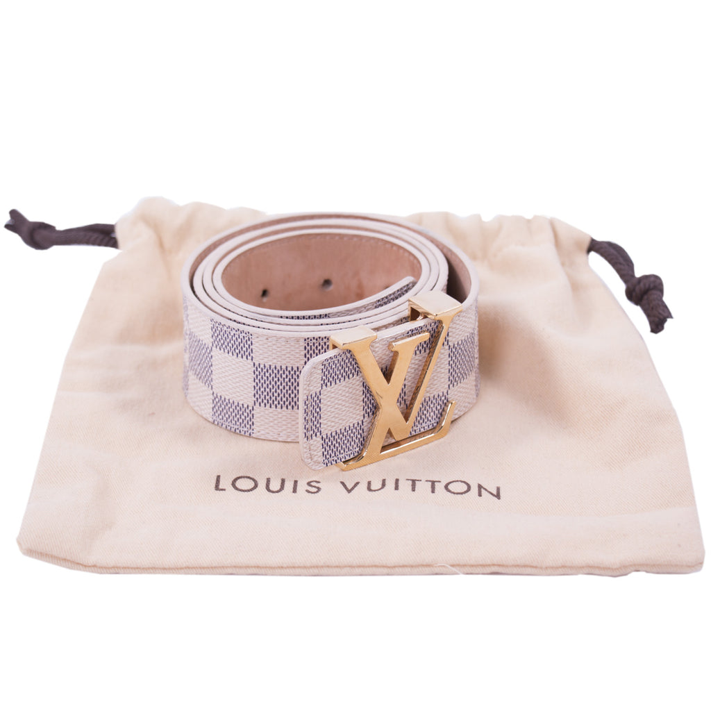 Louis Vuitton Damier Azur Initiales Belt Accessories Louis Vuitton - Shop authentic new pre-owned designer brands online at Re-Vogue