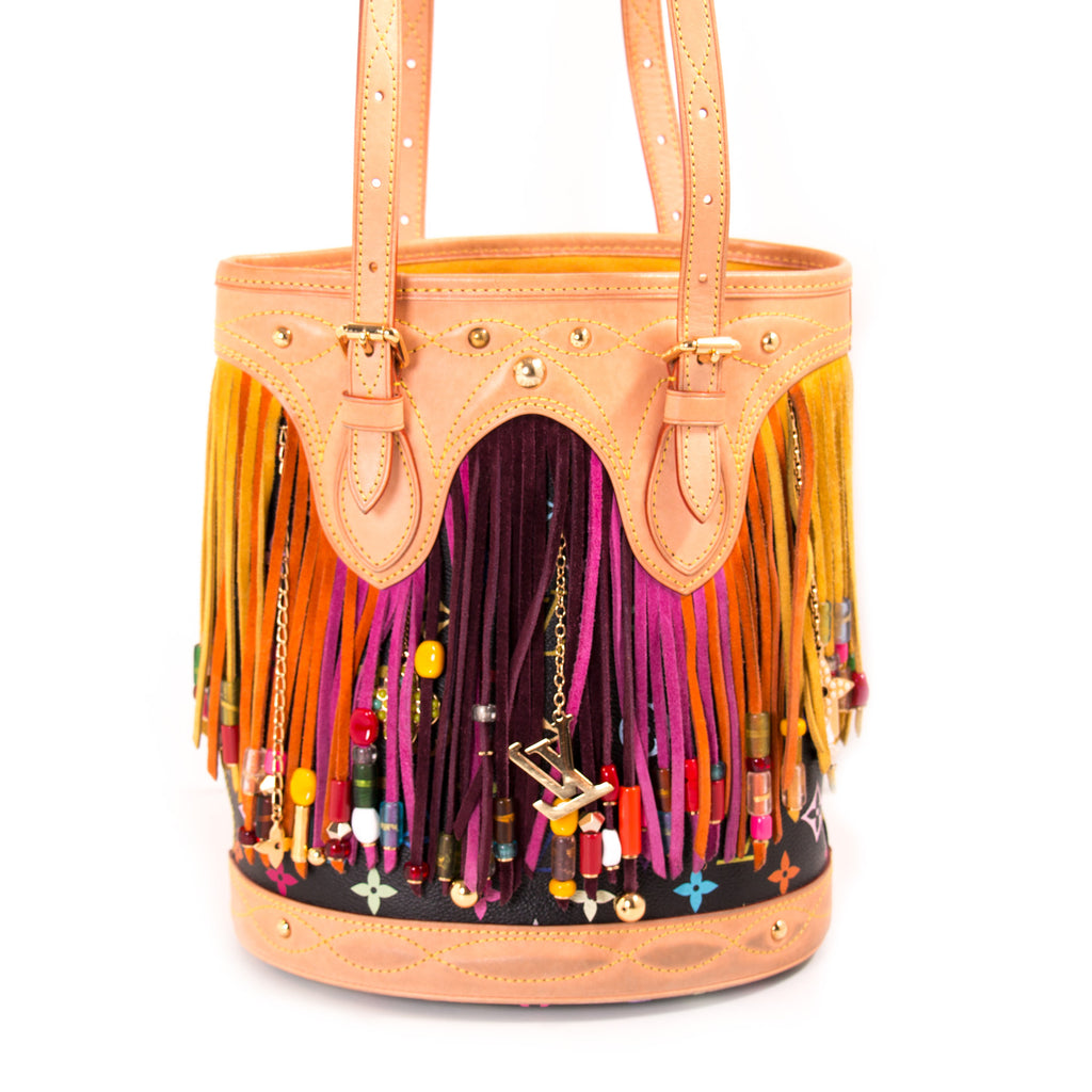 Louis Vuitton Multicolor Fringes Bucket Tote Bag Bags Louis Vuitton - Shop authentic new pre-owned designer brands online at Re-Vogue