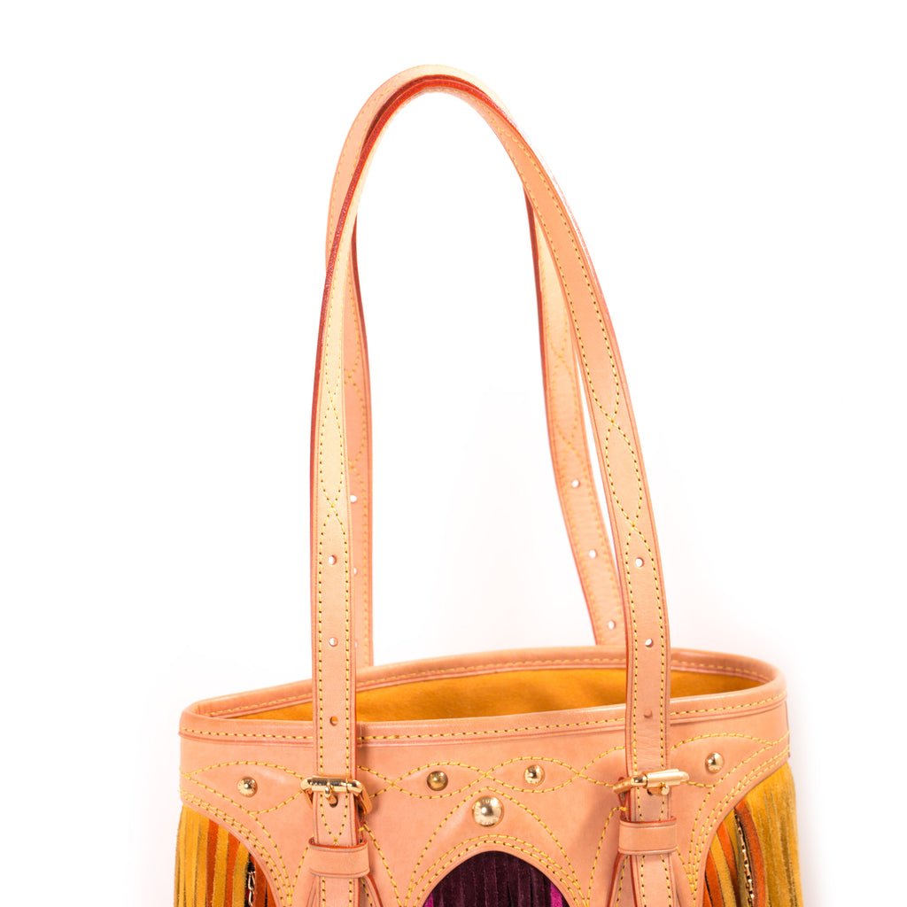 Louis Vuitton Multicolor Fringes Bucket Tote Bag