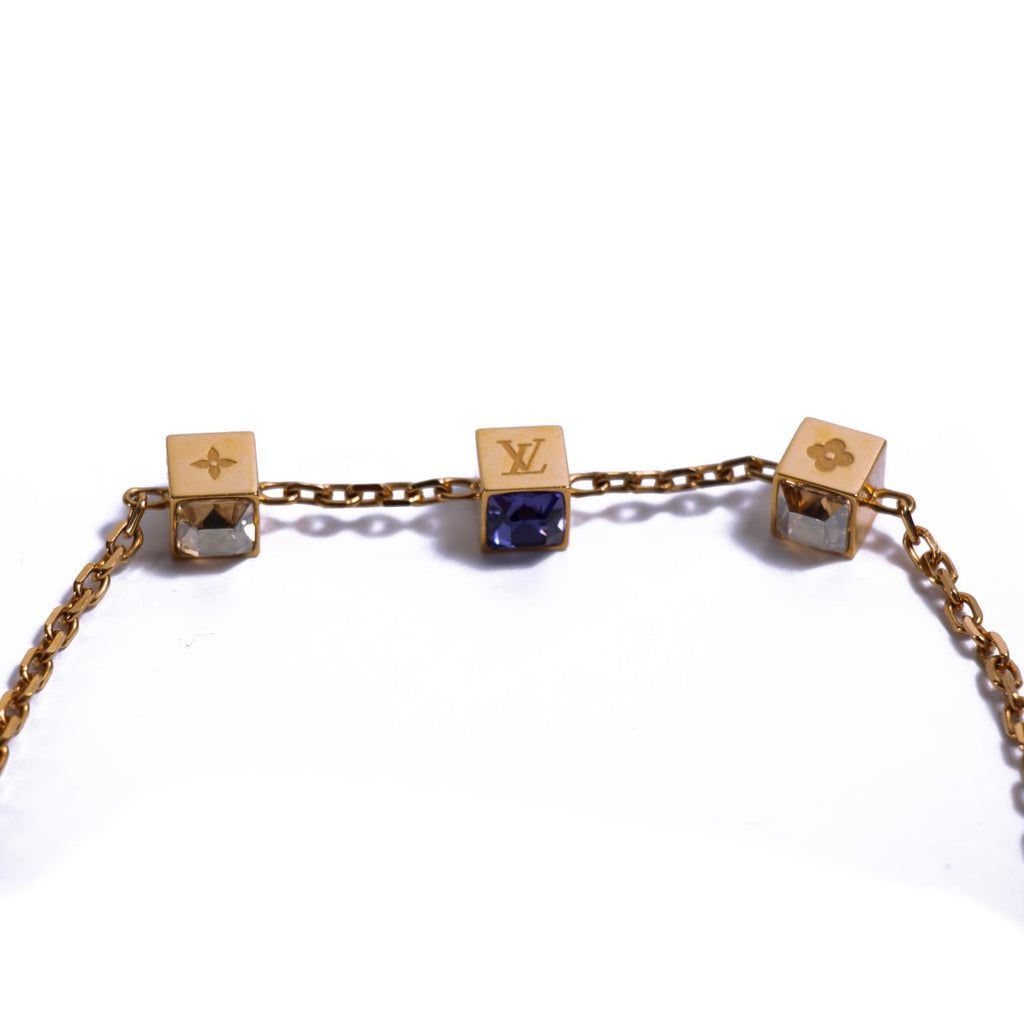 Louis Vuitton Crystal Gamble Necklace