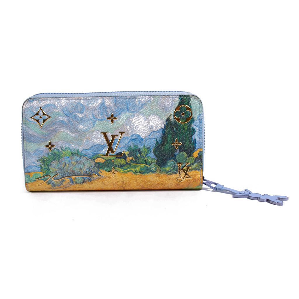 Louis Vuitton Zippy Wallet Van Gogh Jeff Koons