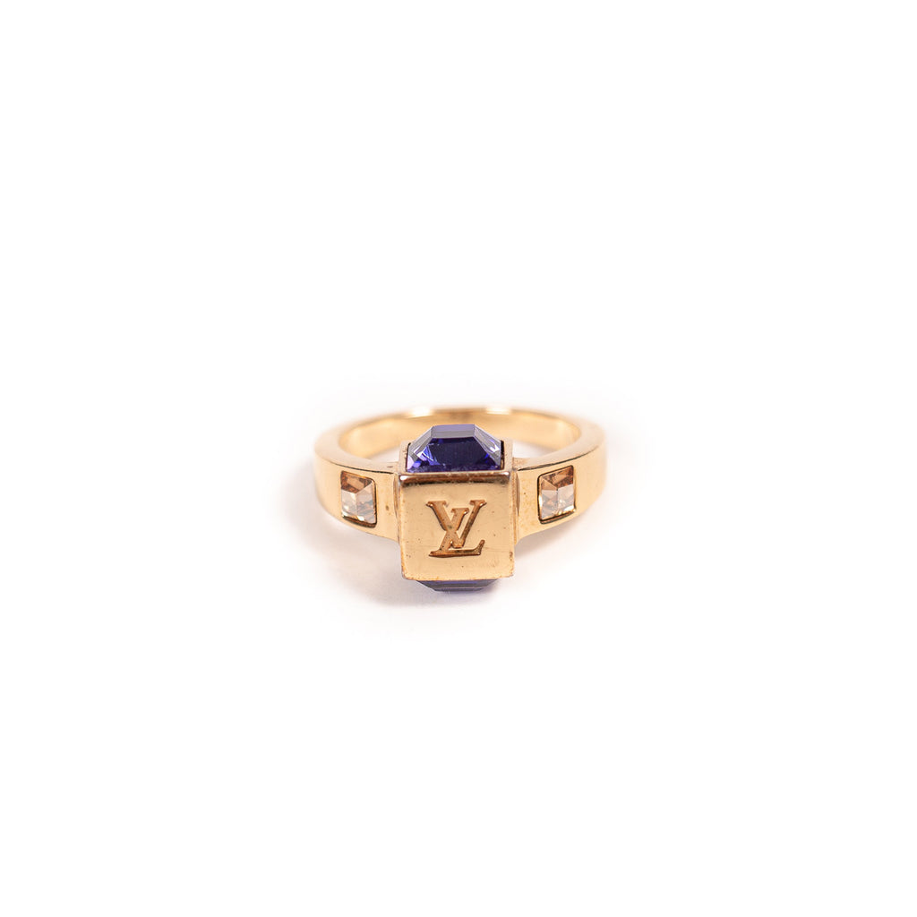 Louis Vuitton Crystal Gamble Ring
