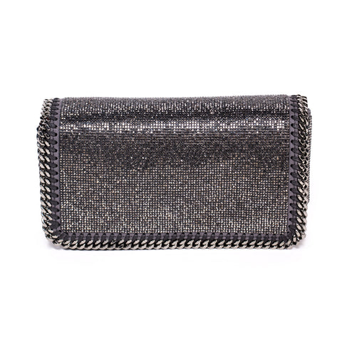 Stella McCartney Specked Metallic Fold Over Shoulder Bag
