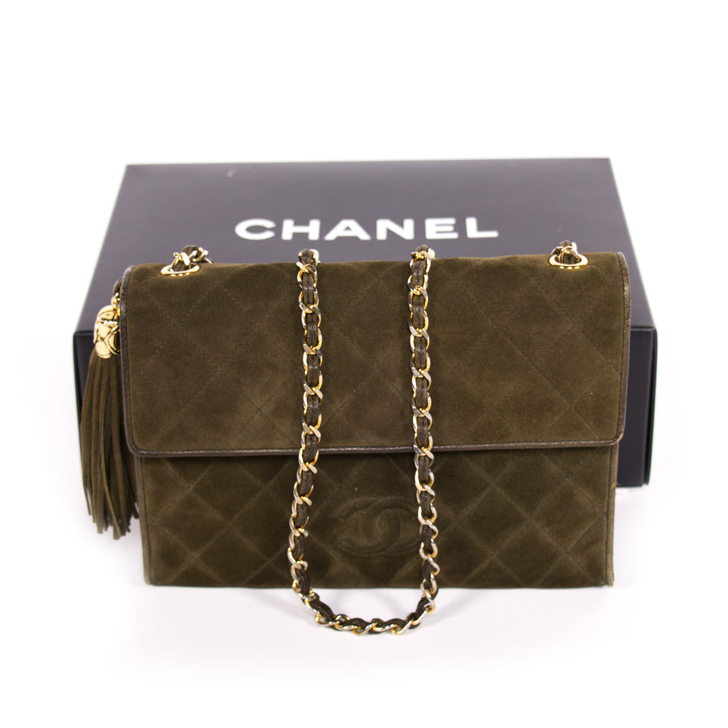 Chanel Quilted Suede Flap Bag Bags Chanel - Shop authentic new pre-owned designer brands online at Re-Vogue