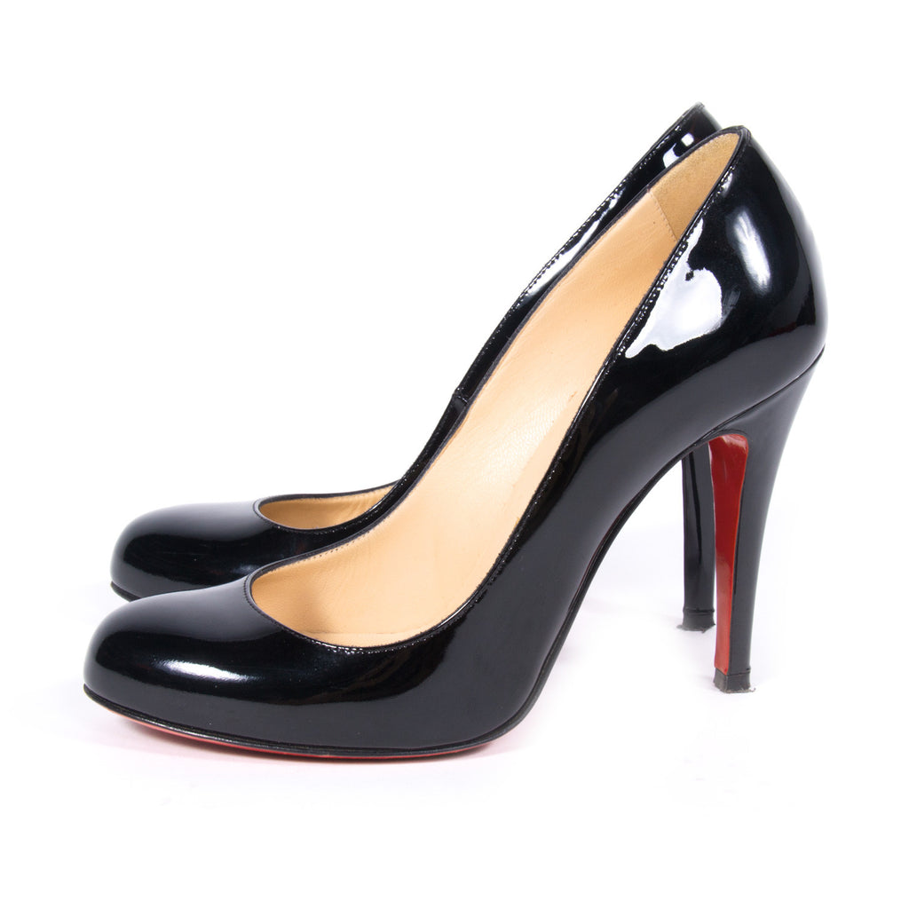 info for 182ab c7e53 Shop authentic Christian Louboutin Rounded Toe Pumps at revogue for just  USD 376.00