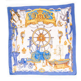 Hermes Marine Printed Silk Scarf Scarves Hermes - Shop authentic new pre-owned designer brands online at Re-Vogue