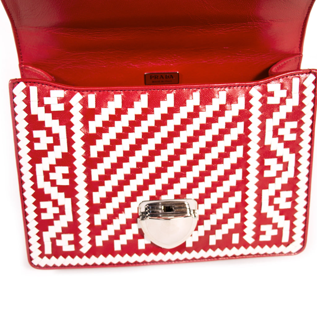 Prada Woven Madras Pattern Shoulder Bag Bags Prada - Shop authentic new pre-owned designer brands online at Re-Vogue