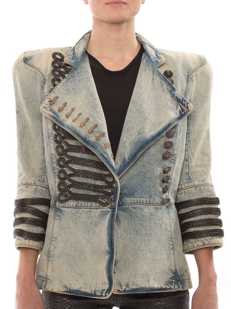 0c1f73c82b1 Balmain Military Denim Jacket Jacket Balmain - Shop authentic new pre-owned  designer brands online ...