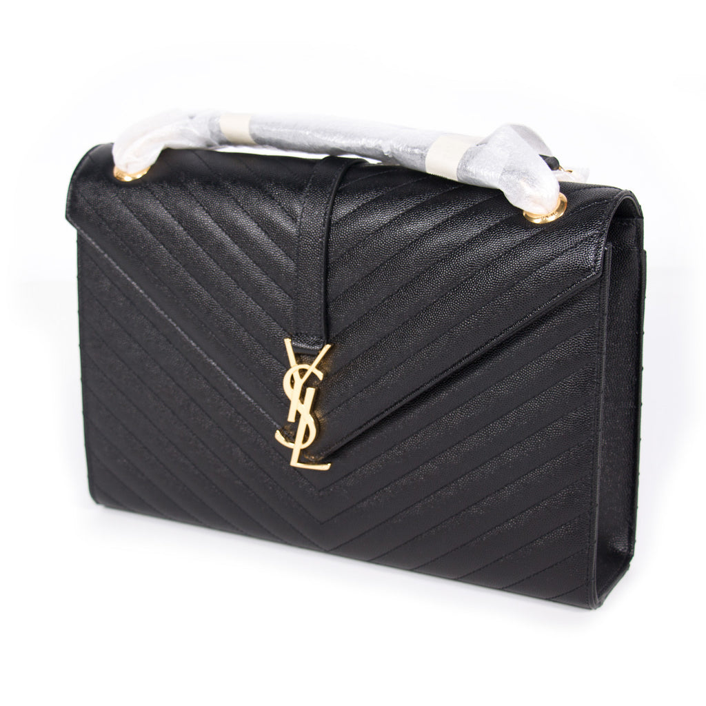 Saint Laurent Monogram Large Quilted Leather Bags Yves Saint Laurent - Shop authentic new pre-owned designer brands online at Re-Vogue