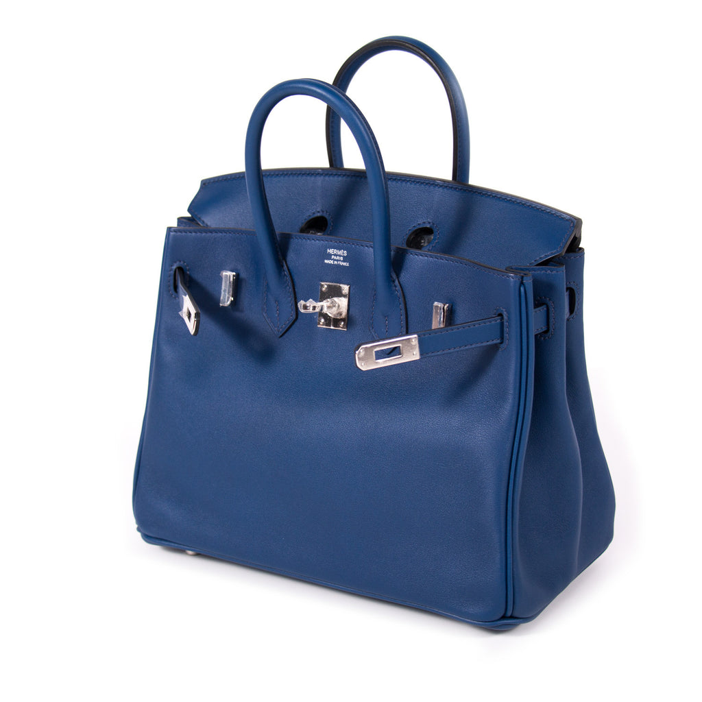 Hermes Birkin 25 Navy Blue Swift Bags Hermes - Shop authentic new pre-owned designer brands online at Re-Vogue