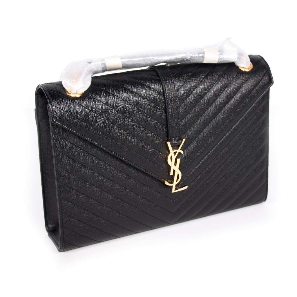 6d5605efb79 ... Saint Laurent Monogram Large Quilted Leather Bags Yves Saint Laurent - Shop  authentic new pre- ...