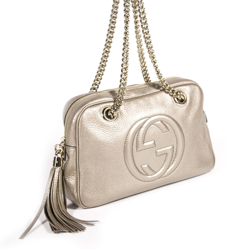 Gucci Soho Chain Shoulder Bag Bags Gucci - Shop authentic new pre-owned designer brands online at Re-Vogue