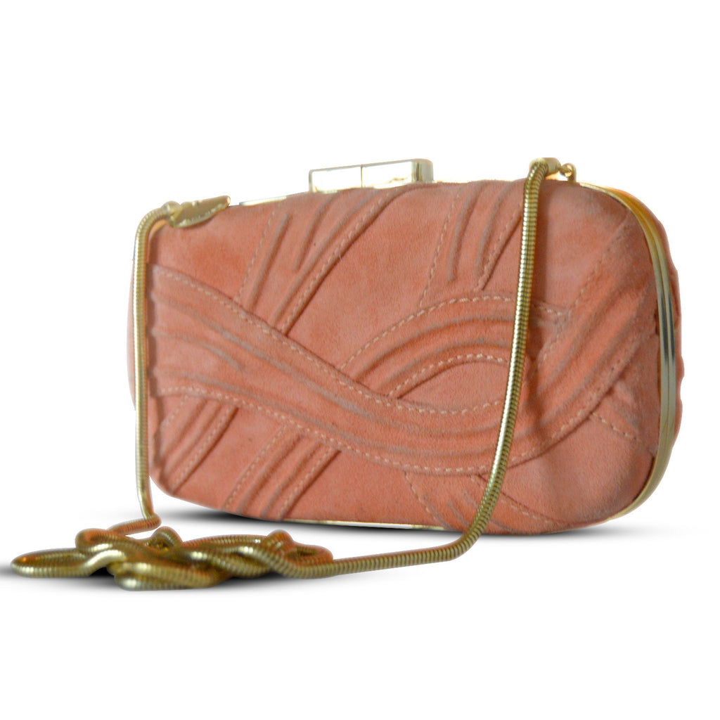 Elie Saab Orange Suede Clutch Clutch Elie Saab - Shop authentic new pre-owned designer brands online at Re-Vogue
