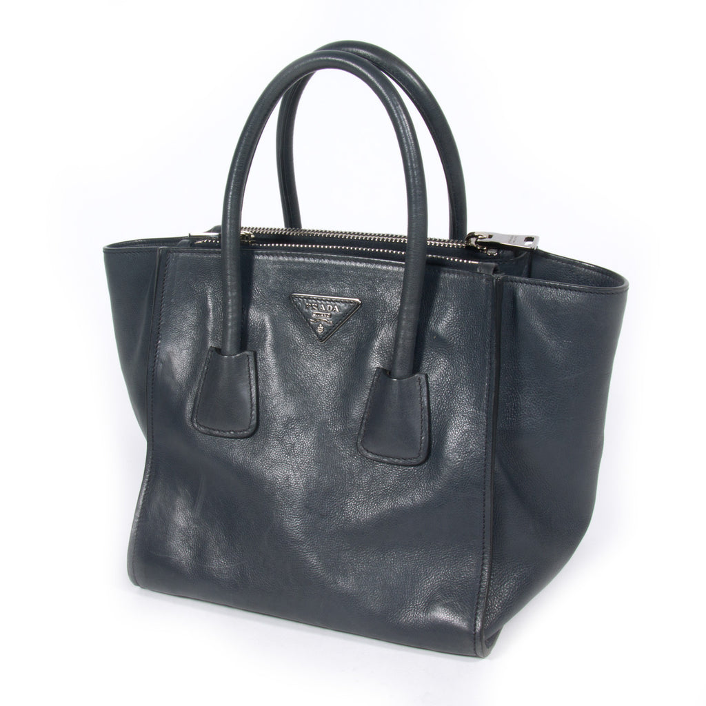 Prada Glace Calf Twin Tote Bags Prada - Shop authentic new pre-owned designer brands online at Re-Vogue