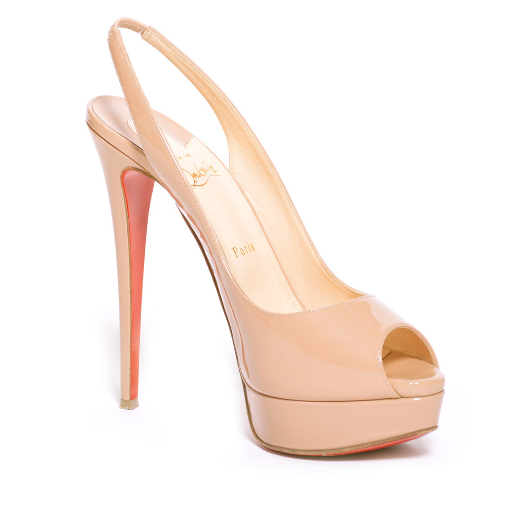 Christian Louboutin Slingback Platform Shoes Christian Louboutin - Shop authentic new pre-owned designer brands online at Re-Vogue