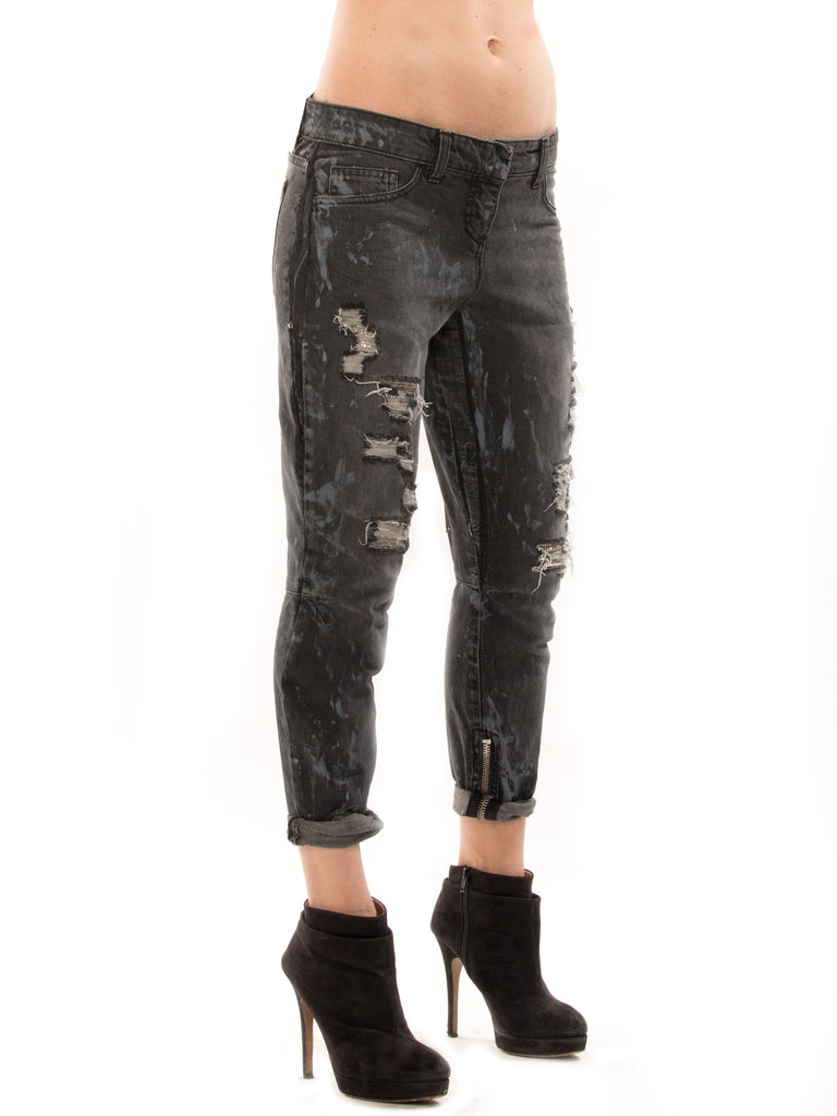 Balmain Distressed Biker Jeans - revogue