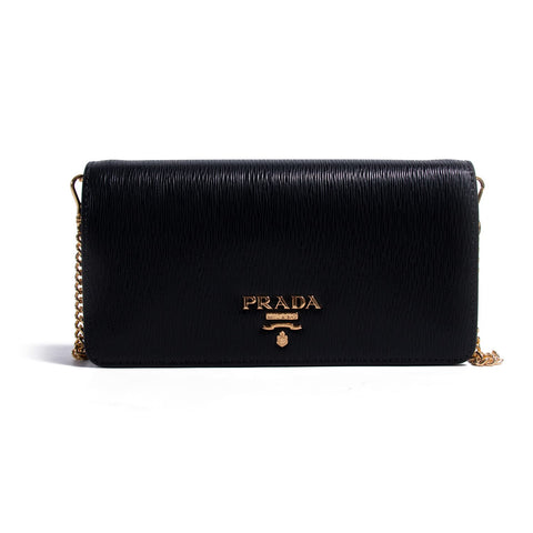 Prada Saffiano Leather Wallet on Chain
