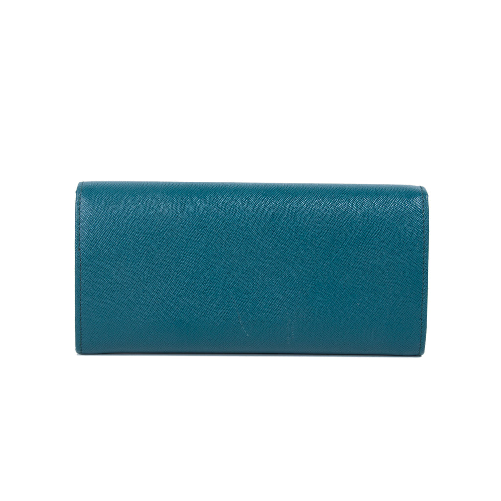 Prada Saffiano Continental Flap Wallet Accessories Prada - Shop authentic new pre-owned designer brands online at Re-Vogue