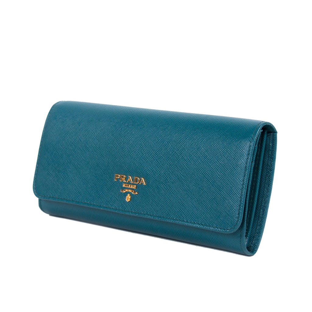 3c5f6eb691d72d Shop authentic Prada Saffiano Continental Flap Wallet at revogue for ...